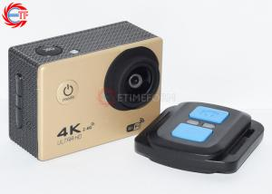 China 4K Gold Remote Control Action Camera 1080P 60fps EF60R WIFI Video Camcorder on sale