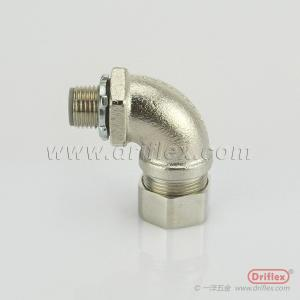 China HOT SELLING Nickel Plated Brass 90d Angle Liquid-tight Conduit Fittings on sale