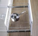 Stainless Steel Wire Drawer Basket Modern Kitchen Decor Accessories Pull Out