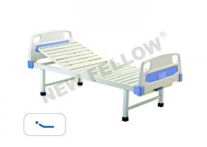 China Powder coated Steel Manual Single Crank medical supplies hospital beds CE / FDA on sale