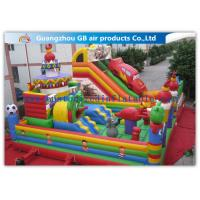 Childrens Outdoor Inflatable Combo Bouncers , Bouncy Castle Slide Play Equipment