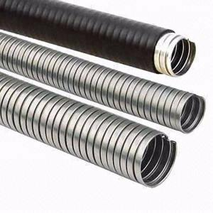China High Temp Flexible Metal Pipe , Heat Resistant Flexible Conduit For Outdoor Wiring  on sale