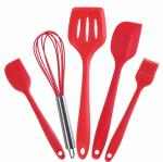Food Grade Silicone Kithen tools sets  with 5 different silicone tools