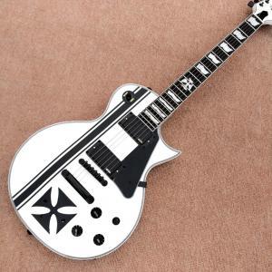 China In stock Custom LTD Iron Cross SW James Hetfield Signature Electric Guitar EMG Snow White, Rosewood Fingerboard, Free sh on sale