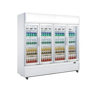 China 2010L Upright Display Chiller , Four Glass Door Chiller Display Fridge,No Frost Fan Cooling Commercial Display Cooler supplier
