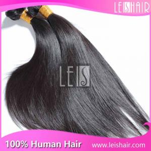 China 100% Unprocessed straight virgin brazilian hair weave bundles wholesale on sale