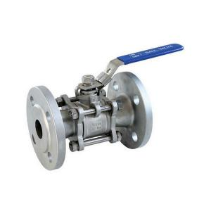 China BKVALVE 3 PCS STAINLESS STEEL SS304 SS316  FLANGE BALL VALVE on sale
