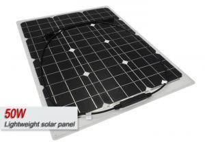 Quality High Efficiency Lightweight Solar Panels / 50 Watt Flexible Solar Panel for sale
