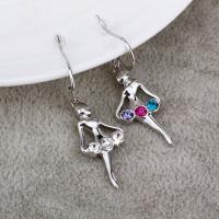 Ref No.: 440305 Colorful dance Earring semi precious stones jewellery heart shaped jewelry