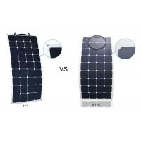 Weatherproof ETFE Portable RV Flexible Solar Panels With 30 Degrees Curvature