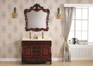 China Pear Classic Bathroom Cabinets Wooden Cloakroom Wall Hung Vanity Unit Ceramics Sink on sale