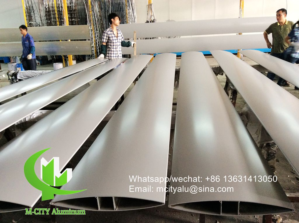 150mm Architectural aluminum Aerofoil louver with oval shape