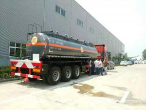 China NaOH tank trailer -200000L-40000L Caustic soda  round dishhead truck trailer factory on sale