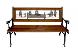 China Cast Ornamental Iron Parts Outdoor Garden Furniture Antique Wooden Park Bench on sale