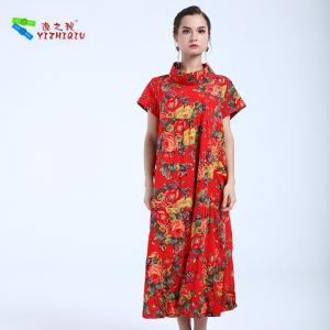 China YIZHIQIU Wholesales Custom Floral Print Long Dress on sale