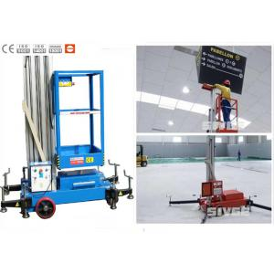 China Office Buildings Aerial Work Platform Push Around 8 Meter Height For One Man on sale