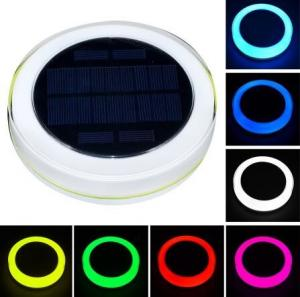 China RGB Solar Powered Swimming Pool Lights,Garden Solar Powered LED Lights Outdoor on sale