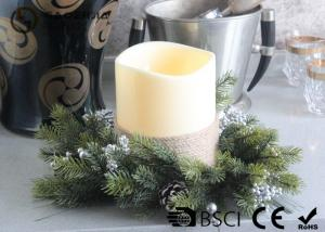 China Advent Wreath Led Candles , Battery Operated Advent Candles D15X20CM on sale