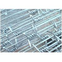 China Cattle 12 Gauge Barbed Wire Fence Hot - Dipped Galvanized With Single Strand on sale