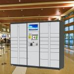 White Smart Parcel Distribution Delivery Locker With Networking Management System
