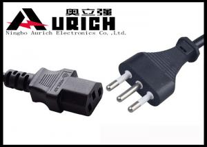 China OEM Italian Standard 3 Prong Power Cord For PC / TV / Monitor IMQ Approval on sale