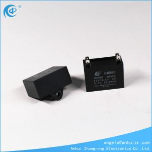 sourcing map CBB61 Run Capacitor 450V AC 3uF 2 Cable Metallized Polypropylene Film Capacitors for Ceiling Fan