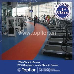 China PVC Gym Flooring for Fitness Floor supplier
