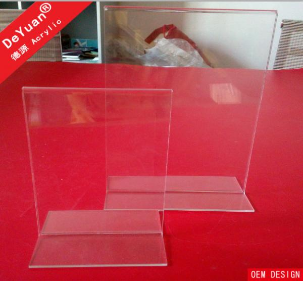 double sides clear acrylic display stands a4 acrylic table tent