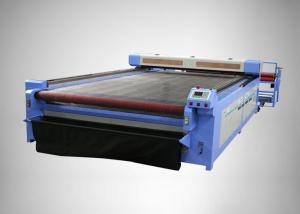 China Leather Textile And Fabric CO2 Laser Engraving Machine Red Laser Positioning System on sale