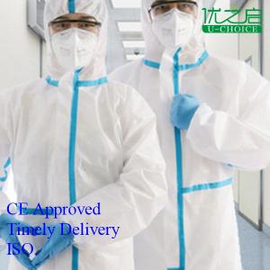 China Non Woven Disposable Protective Coverall Lightweight For Hospital / Working on sale