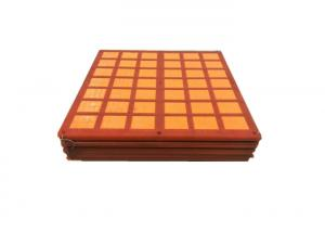 China Red Wear Resistant Polyurethane Screen For Shale Shaker 300x1200mm Size on sale