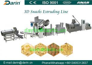 China Variety shapes 2D 3D pellet snack food Crispy pea soya extruder machine process line on sale