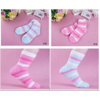 Young girls fashion design soft knittted home socks