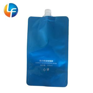 Quality Stand up heat seal gravure printing drink pouch with spout packaging for sale