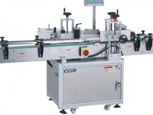 China Vertical Round Bottle Automatic Labeling Machine High Stability For Medicine / Cosmetics on sale