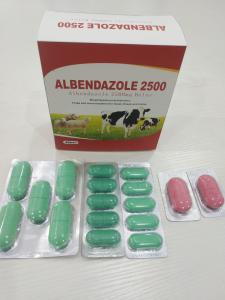 China Albendazole Veterinary Tablets For Animal Feed BP/USP/CP Standard on sale