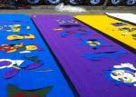 装飾の多彩な運動場の総合的な泥炭の人工的なカーペット草 3000 DTEX