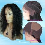 Peluca rizada del frente del cordón del rizo del cabello humano de Whoelsale Vigin y peluca de cordón llena
