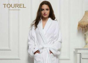 China Cotton White Cotton Terry Cloth Bathrobe Waffle Hotel Bathrobes White Blue Pink Color on sale