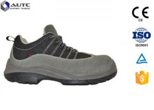 China Black Worksite Steel Toe Work Boots , Steel Toe Dress Shoes For Men Smooth Leather on sale