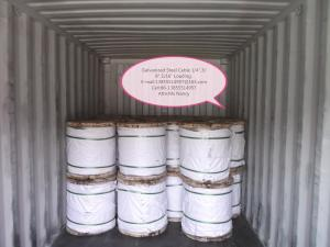 China ASTM A 475 EHS Class A  1/4,3/8,5/16,1/2 Galvanized Steel Wire Strand on sale