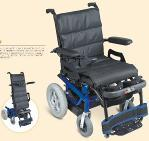 China Standing steel  Power Electric wheel chair with driving & moving up seat on sale
