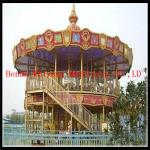 China double deck carousel two floor merry go round for sale wholesale