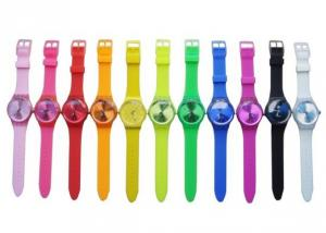 China Colorful Silicone Jelly Watch With Water Resistant 1 ATM For Women on sale