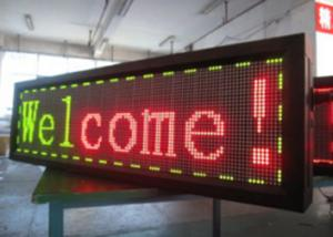 China Traffice Car Scrolling Remote Control LED Sign Board 1R1G1B Yellow And Red Color on sale