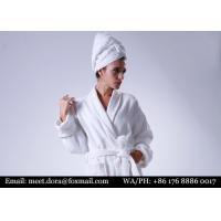 Luxury Premium Quality Hotel Linen Fluffy Kimono Waffle Organic 100% Cotton Bathrobe