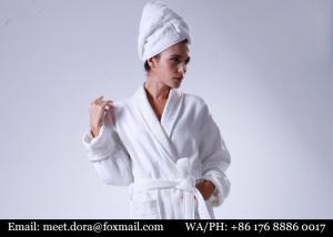 China Luxury Premium Quality Hotel Linen Fluffy Kimono Waffle Organic 100% Cotton Bathrobe on sale