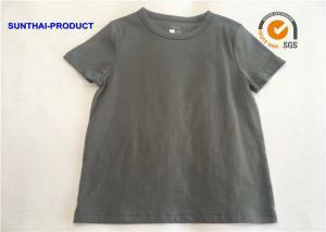 China Slate Gray Color Plain Baby Clothes Crew Neck Boys Short Sleeve Polo Shirts on sale