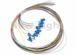 China LC / UPC SM 12 Core Single Mode Fiber Optic Cable Color Coded Fiber Optic Pigtail on sale