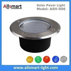 China Φ130x60mm Round Solar Paver Lights Maintenance Free Solar Brick Lights Solar Underground In-ground Lights Waterproof on sale